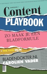 """Content Playbook"" door Carolien Vader"